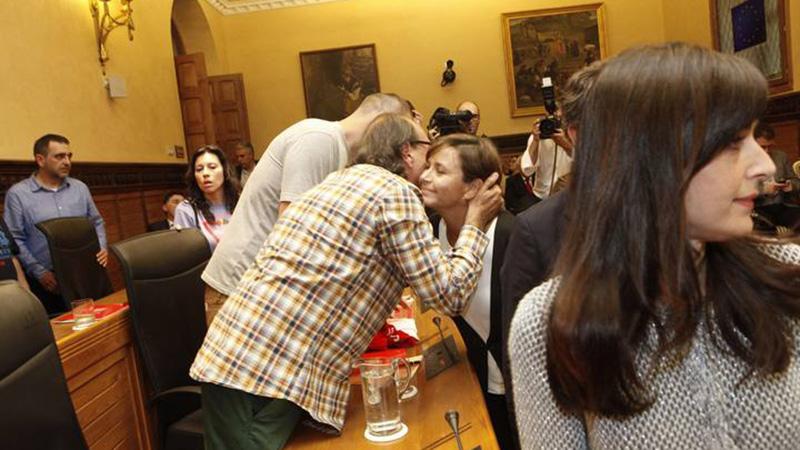 PLENO DE INVESTIDURA DONDE RESULTO ELEGIDA CARMEN MORIYON COMO ALCALDESA DE GIJON.