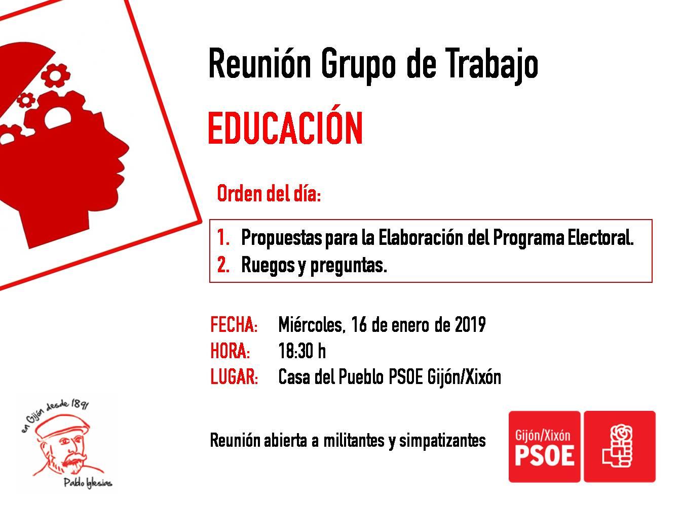 190116_Grupo_Trabajo_Educación