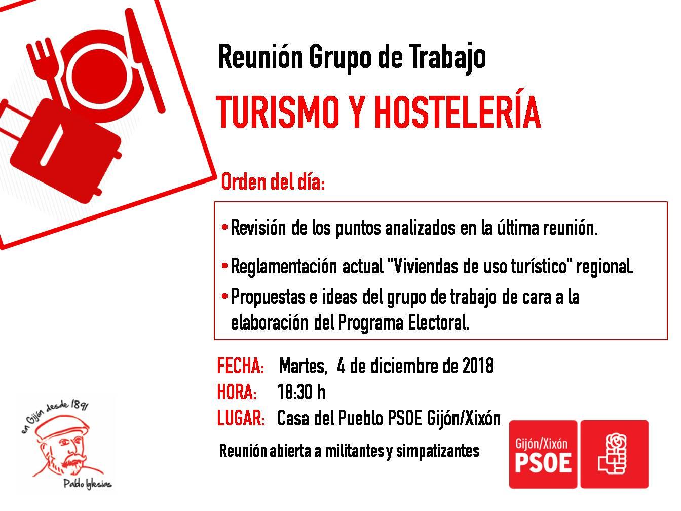 181204_Grupo_Trabajo_TurismoyHostelería