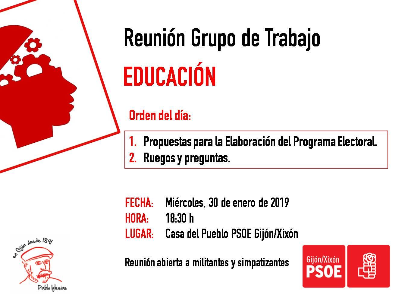 190130_Grupo_Trabajo_Educación